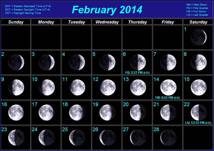 February 2015 Moon Phases | New Calendar Template Site