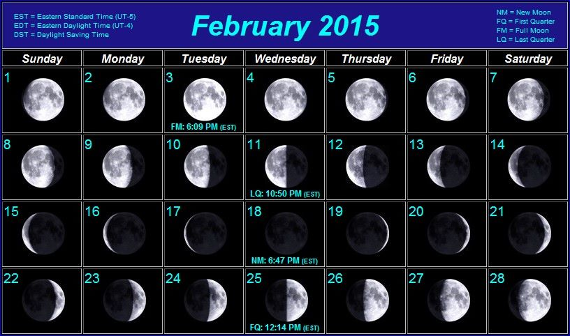 Phases Of The Moon February 2015   Search Results   Calendar 2015