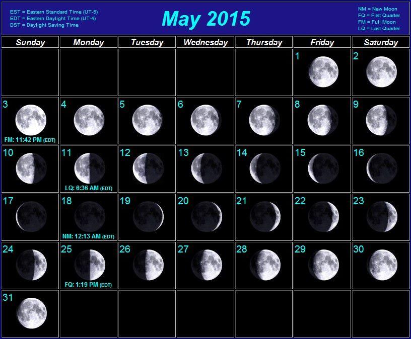Moon Calendar May 2015New Calendar Design in Picture | New Calendar ...