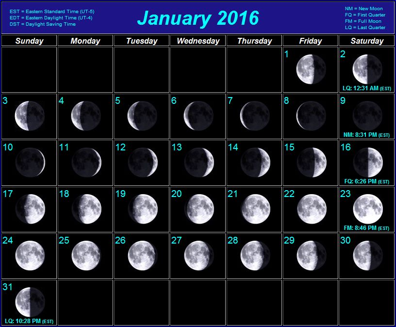 Printable 2016 Moon Phase Calendar | Search Results | 2016 Calendar ...