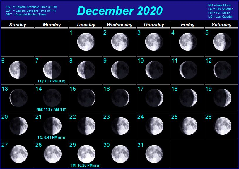 Calendar For December 2020 With Moon Index of /_MoonPhases/Calendars/2020